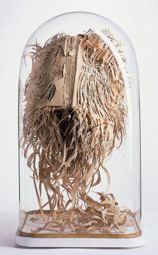 lovely book art by Georgia Russell book art paper sculpture
