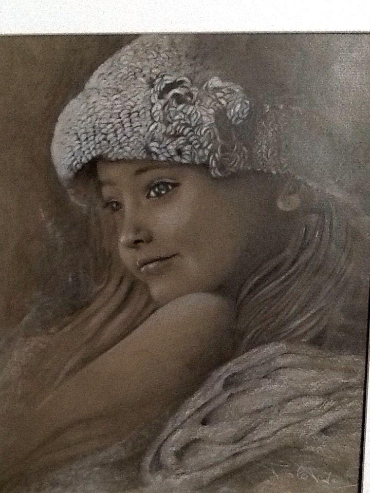 Ritratto. Portrait.  Pencil drawing by Paola Petrucci