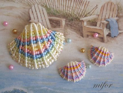 MACRAME!!! Concha. Shell...Free Pattern...NOT IN ENGLISH...but, easy to follow the diagrams...<I;)/