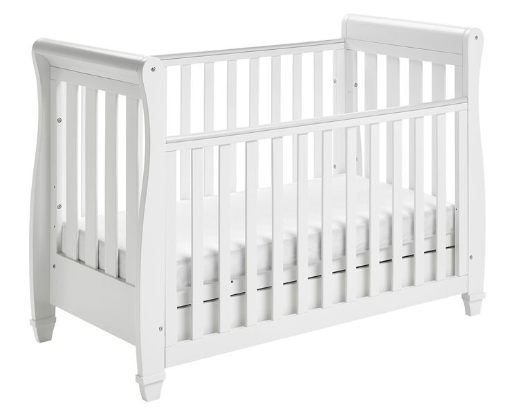 Babymore Eva Sleigh Cot Bed Dropside with Drawer (White Finish) + FOAM MATTRESS: Amazon.co.uk: Baby£189