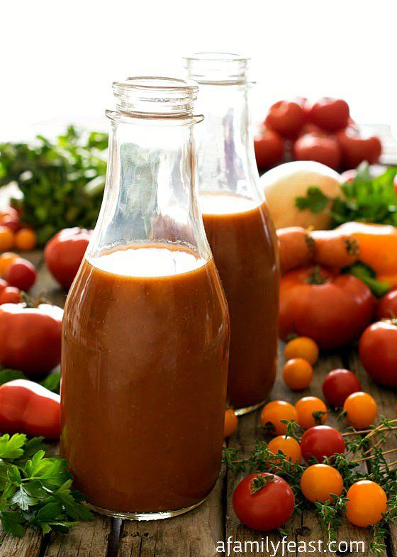 Homemade Tomato Juice - An old family recipe for Homemade Tomato Juice passed down through generations - this is fresh and delicious!