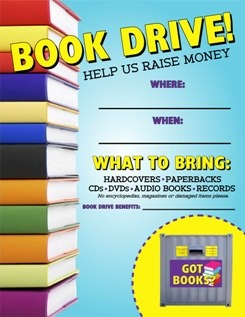 8 best school book drive images on pinterest girl scouts. Black Bedroom Furniture Sets. Home Design Ideas
