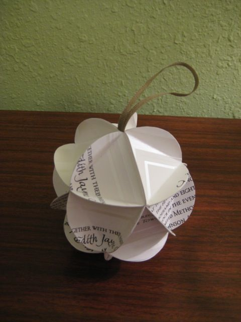 DIY Wedding Invite Ornament