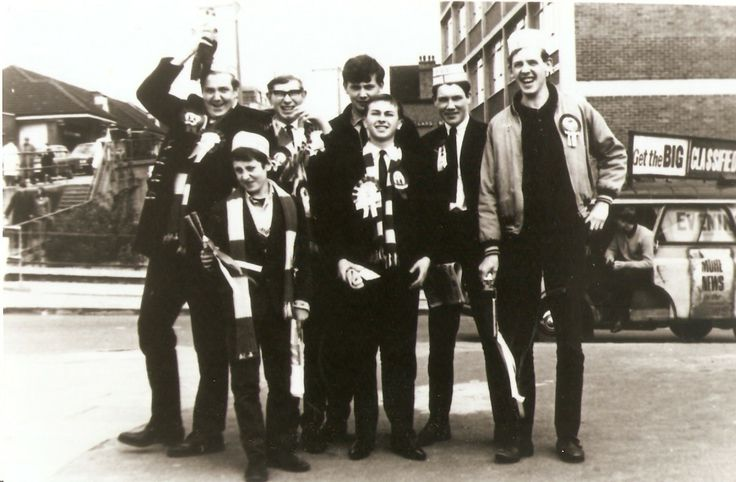 Hendon fans near Wembley for the Amateur Cup Final in 1965.