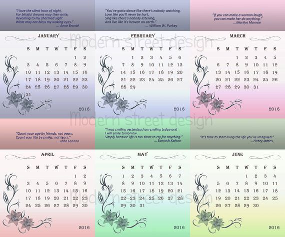 Calendar Monthly Sayings : Calendar printable quotes monthly by