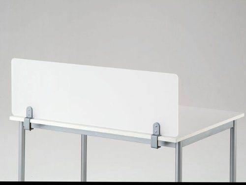 Clamp On Desk Top Divider Frosted Acrylic Privacy Screen