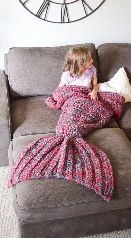 Mermaid tail blankie!