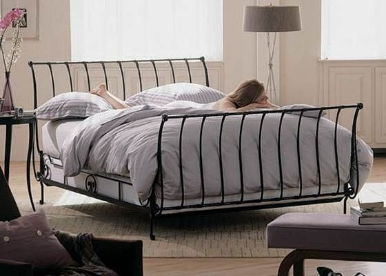 Frans provence bed AMBER - 2 Persoons Bedden - BEDDEN in voorraad - Bedden : Metalen bedden en ijzeren ledikanten