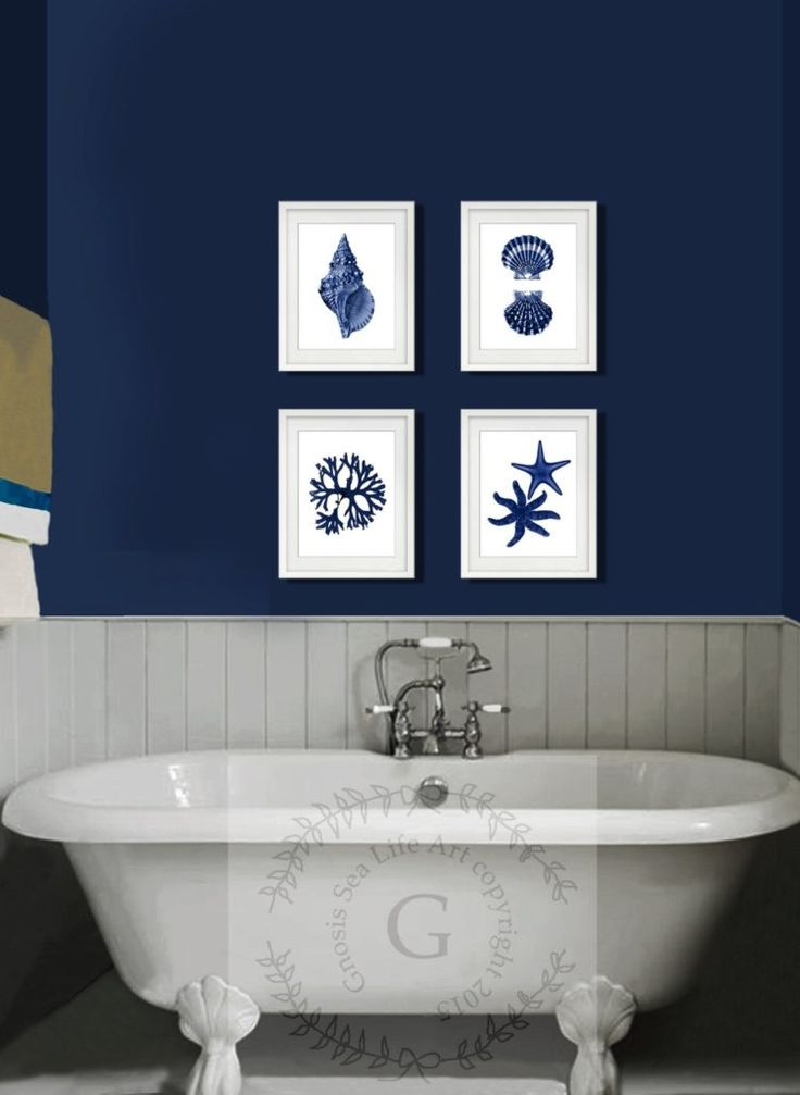 Blue themed bathroom