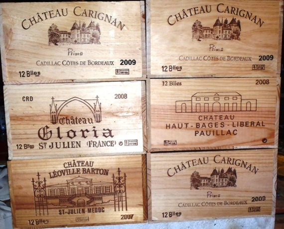 57 best wooden wine box images on pinterest wine crates for Empty wine crates