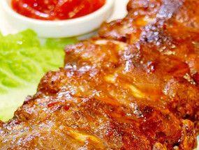 Мясо в медово-горчичном соусе
