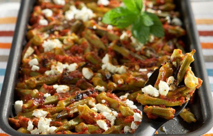 Μπάμιες στο φούρνο με ντομάτα, δυόσμο και φέτα - Συνταγές - Πιάτα ημέρας   γαστρονόμος