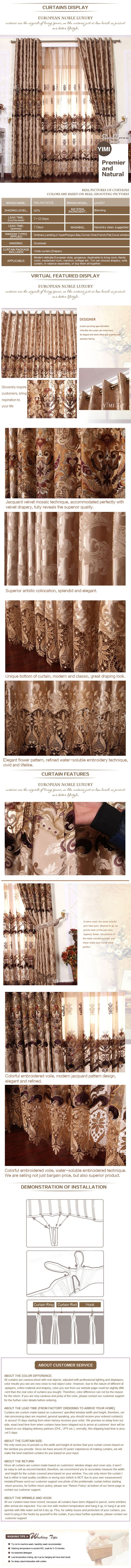 Luxury window curtain - Lanandoff $100  (60% off)