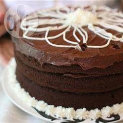 Pure chocoladetaart @ allrecipes.nl