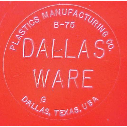 1950s Dallas Ware Bowls Fire Engine Red B-75 Minty Condition