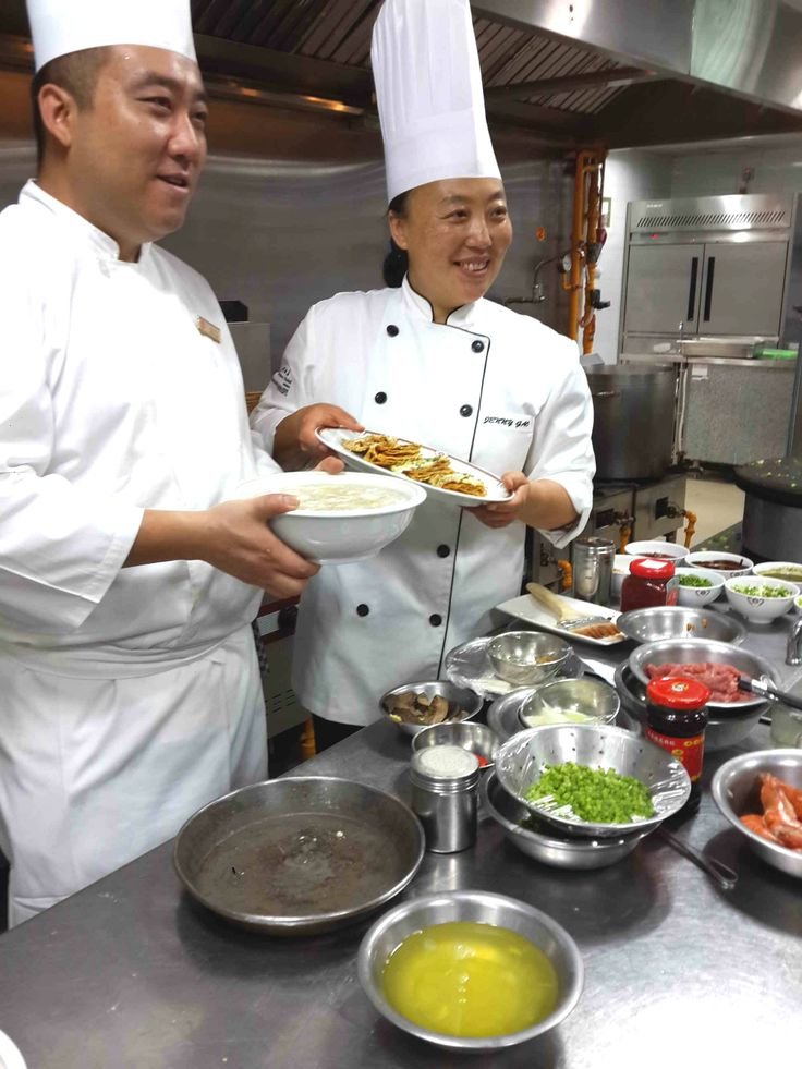 Chef White with his Soup with stuffed Chinese Cabbage & Chef Jenny with her Spicy Pancake