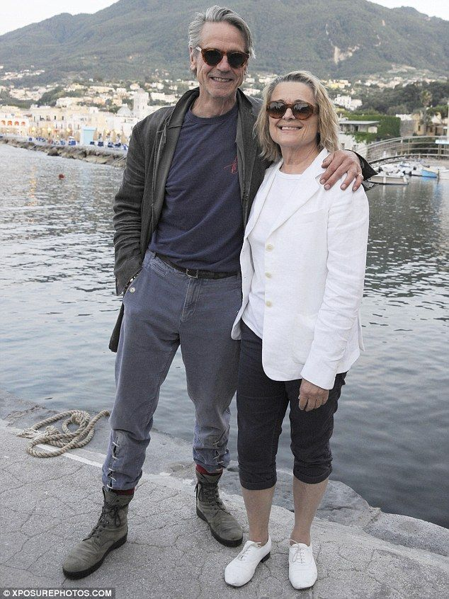 A low-key arrival: Hollywood heavyweight Jeremy Irons,67 and his wife Sinead Cusack ,68 arriving ...