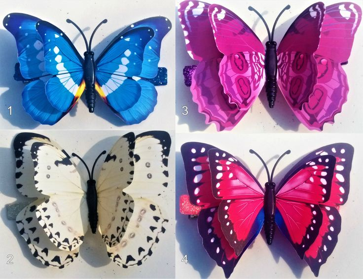 Medium 3D Butterfly Hairclips by YourDeadlyDesires on Etsy