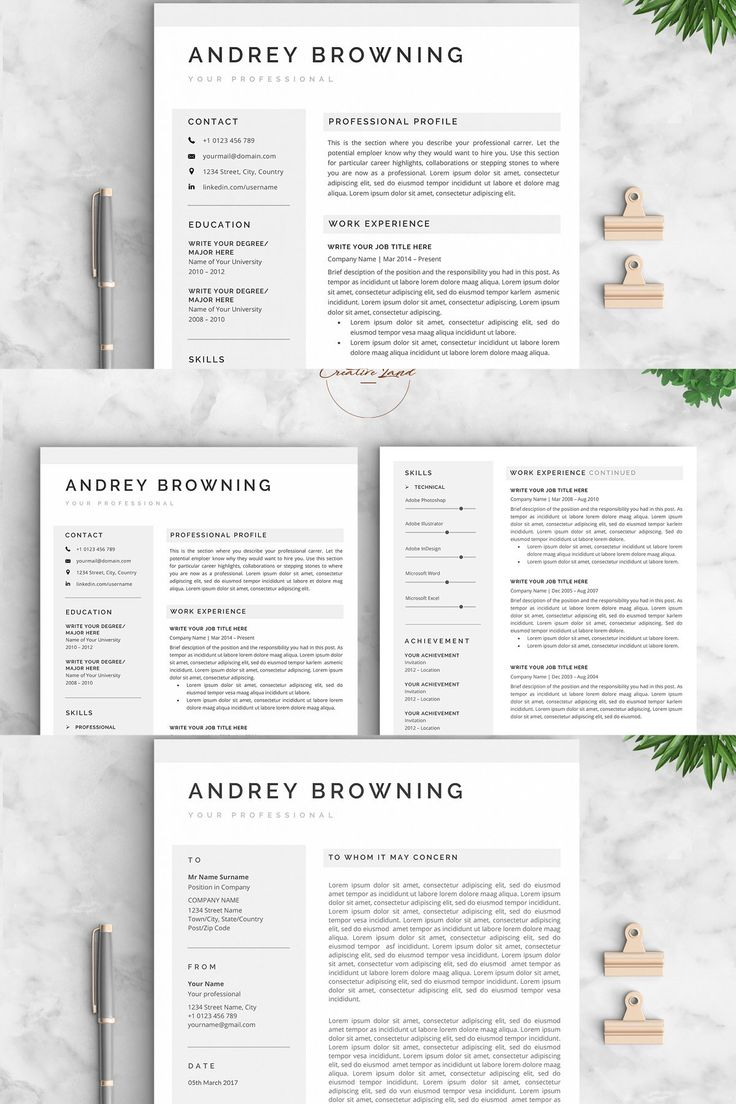 Resume/CV The Andrey in 2020 Social icons, Design