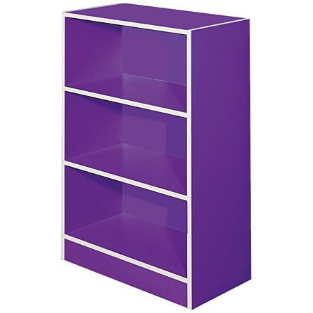 Solano Bookcase 3 Tier Purple - Outdoor Decor & Accessories - Outdoor Living - Furniture - The Warehouse