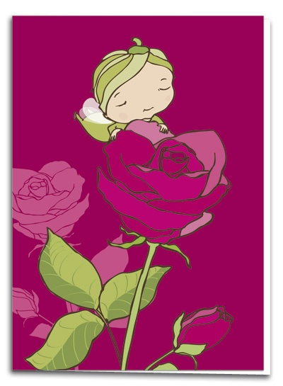 Rose - illustration by Terese Bast  #rose #elf # sweet #pink #teresebast #illustration