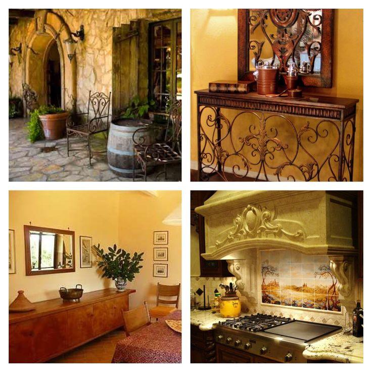 Tuscan decor Home Pinterest