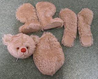 Assembling a teddy bear