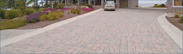 Love this driveway with Hanover pavers...