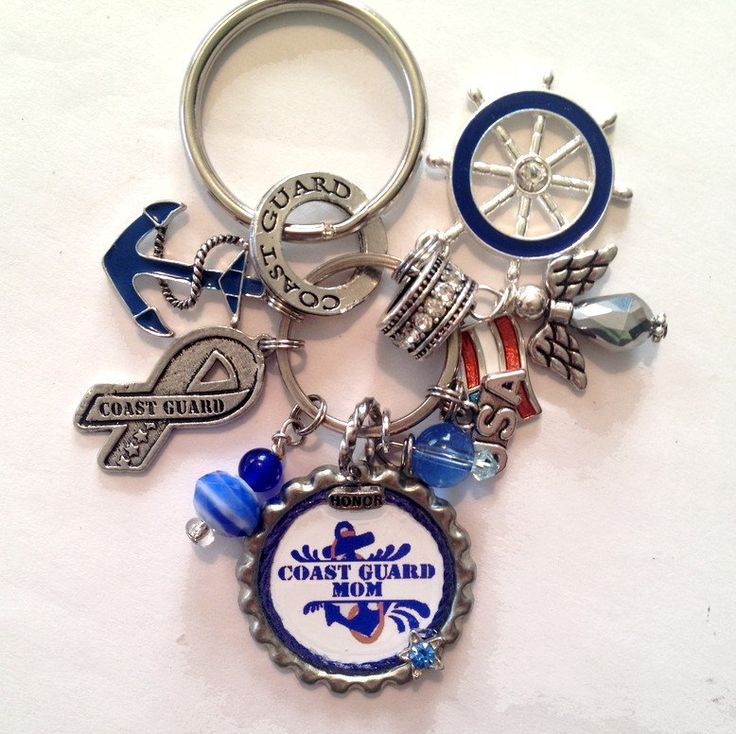 Coast Guard Mom Keycharm - pinned by pin4etsy.com