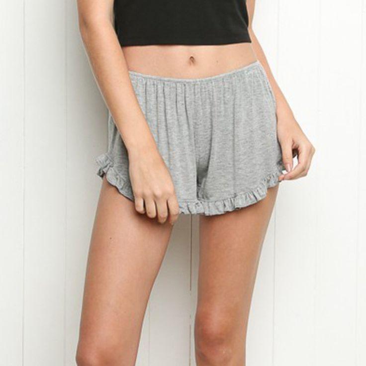 BerryGo Summer beach board sport shorts Women cotton ruffles swimming shorts girls running shorts Elastic black hot preppy skort