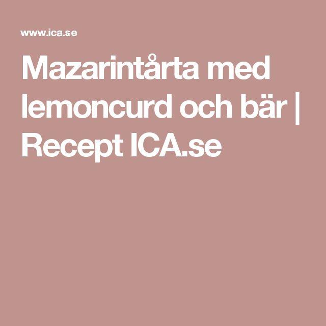 Mazarintårta med lemoncurd och bär | Recept ICA.se