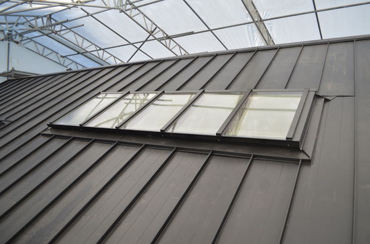 Skylight Over Metal Standing Seam Roof2 Gutter Elevation