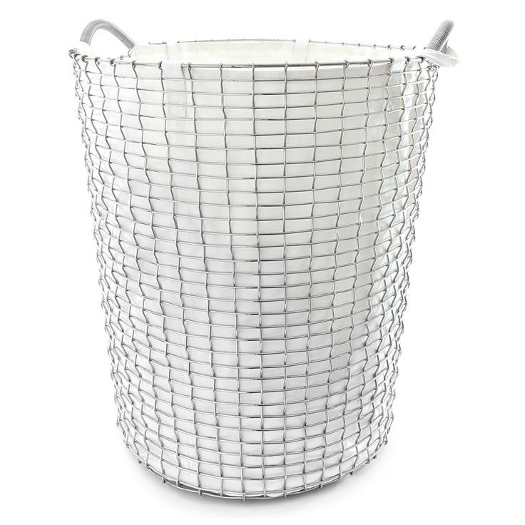 Tvättpåse 80 L, vit i gruppen Inredningsdetaljer / Badrumsinredning / Tvättkorg…
