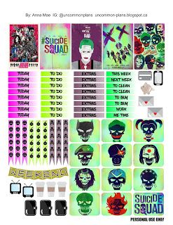 Uncommon Plans: FREE Printable: Suicide Squad