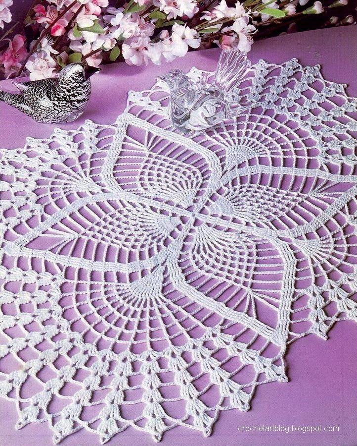 Crochet Doilies - Free Crochet Pattern - Oval Lace Doilies