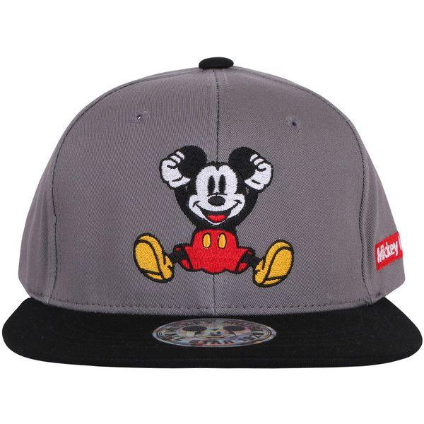 ililily Mickey Mouse New Era Style Snapback Trucker Hat Baseball Cap... (1.390 RUB) ❤ liked on Polyvore