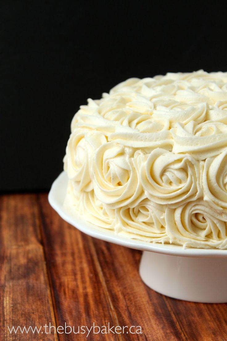 Vanilla Bean Birthday Cake - The Busy Baker