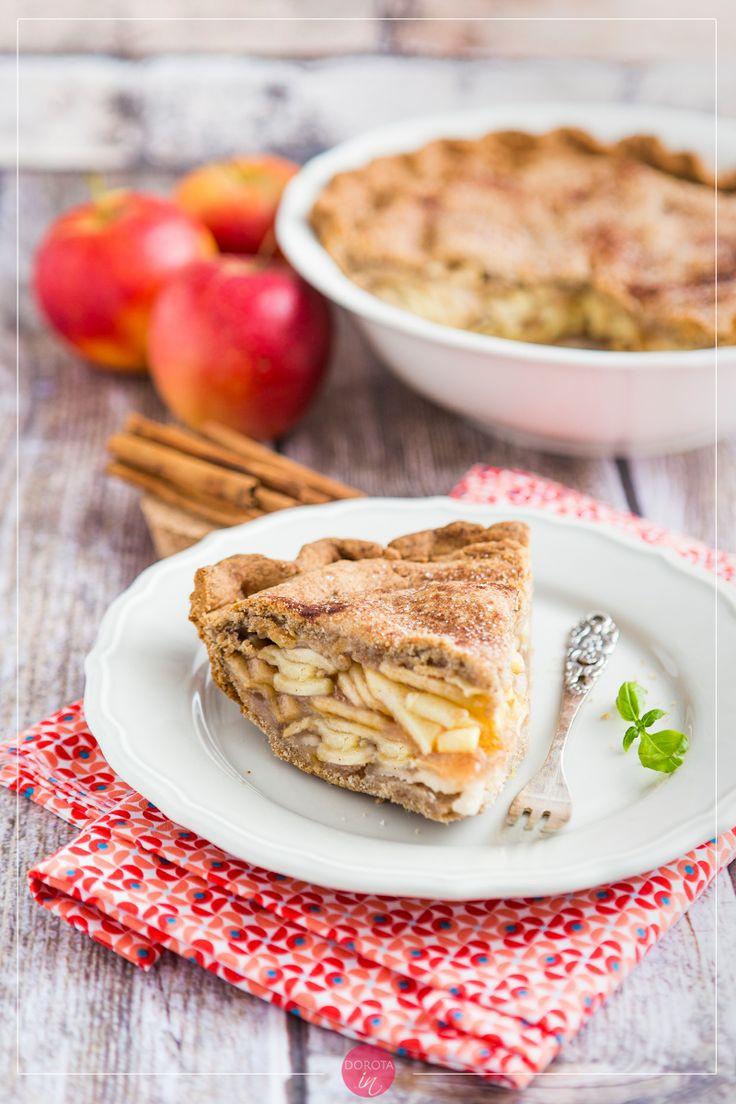 Wysoka, elegancka szarlotka amerykańska czyli prawdziwe apple pie, za to na cieście bezglutenowym lub orkiszowym :).  http://dorota.in/szarlotka-amerykanska-apple-pie/  #food #recipe #cake #ciasto #przepis #kuchnia