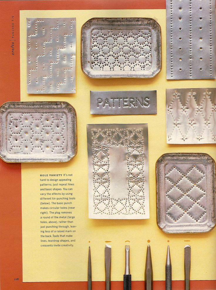 Martha Stewart Living Punched Tin Story November 2003 by Lauren Potter at Coroflot.com