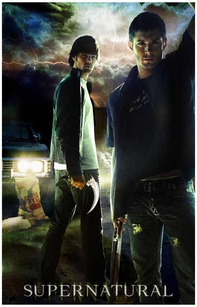 Demon-hunters Dean and Sam Winchester from TV's Supernatural will keep your room safe from evil with this great poster! Ships fast. 11x17 inches. Need Poster Mounts..?
