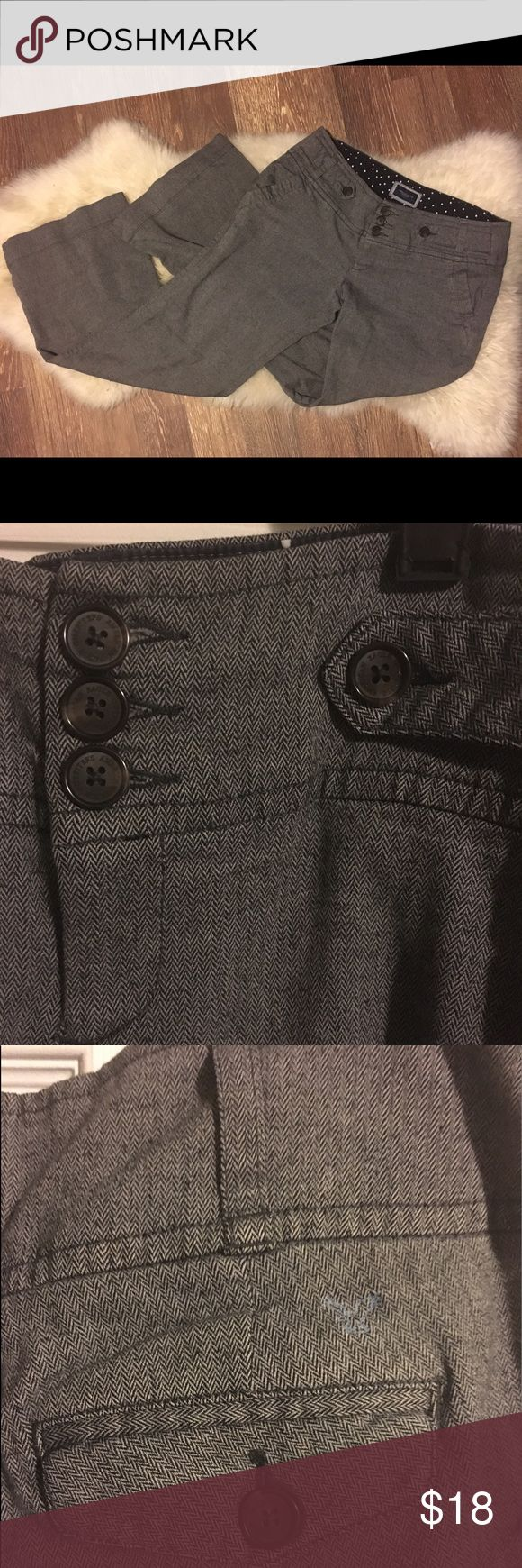 Tweed dress pants by American Eagle 🌺Super cute tweed dress pants from American Eagle! Pretty grey pants with a hint of brown in the fabric, brown buttons, these pants are soft and very comfortable!  Functioning front and back pockets. Excellent condition, no holes/stains/tears. Thanks for looking! 🌺 American Eagle Outfitters Pants Trousers