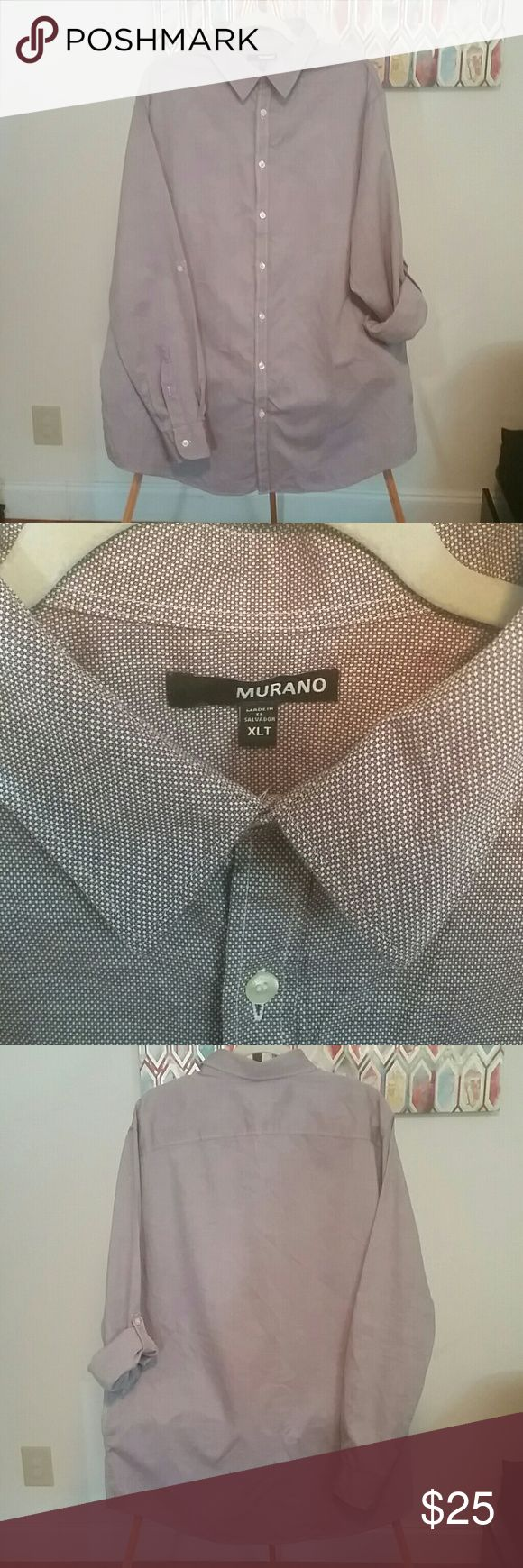 Big & Tall! Men's Button Down Shirt Excellent condition and stylish date night or work shirt. It's a purplish color and I tried to capture that with my phone camera. I'm open to offers or even a bundle! Let me know! 💙💙 Murano Shirts Dress Shirts