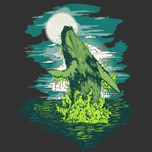 Ballenas is a T Shirt designed by monsterbirdcav to illustrate your life and is available at Design By Humans