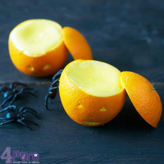 Halloween desert: orange bavarian cream - 4Pure
