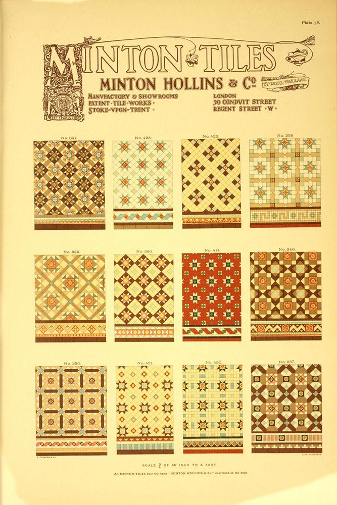 Catálogo da Fábrica Minton Hollins & Co | Stoke Upon-Trent, Inglaterra | c. 1905 /// Catalogue of the Factory Minton Hollins & Co | England Sotoke Upon-Trent | c. 1905