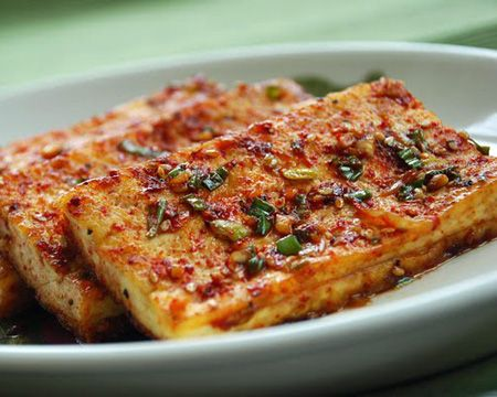 Korean Braised Tofu-I have not tried this yet, but it sure looks and sounds like a full flavored dish.
