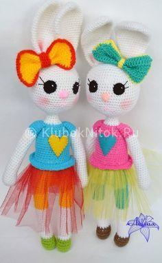 Зайка Эли | Вязание для детей | Вязание спицами и крючком. Схемы вязания.