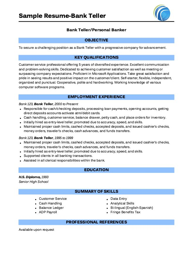 Example Of Bank Teller Resume - http://exampleresumecv.org/example-of-bank-teller-resume/