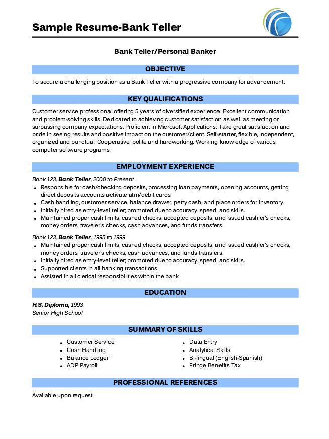Resume Template For Bank Teller Resume Cover Letter For Bank Teller