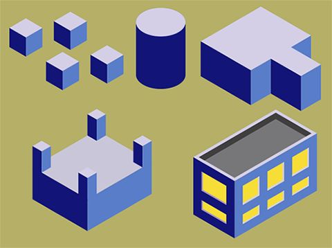 isometric building di coreldraw. #isometric #coreldraw #tutorial